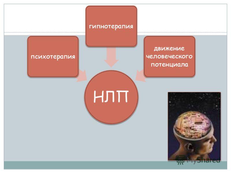 НЛП психотерапиягипнотерапия движение человеческого потенциала