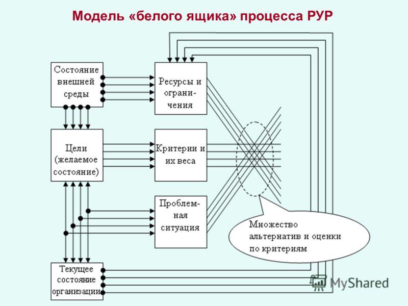 Модель «белого ящика» процесса РУР