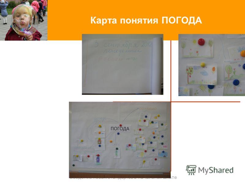 Карта понятия ПОГОДА Введение новых стандартов в начальной школе
