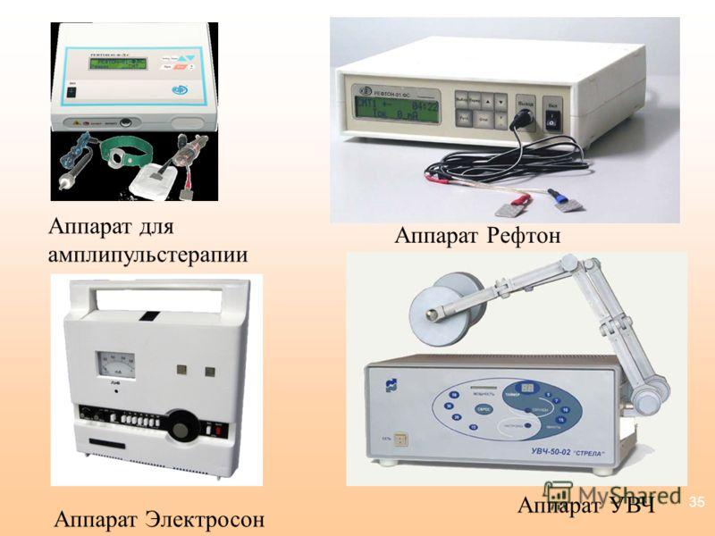 35 Аппарат для амплипульстерапии Аппарат Рефтон Аппарат Электросон Аппарат УВЧ