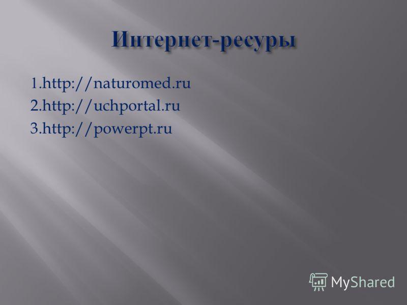 1.http://naturomed.ru 2.http://uchportal.ru 3.http://powerpt.ru