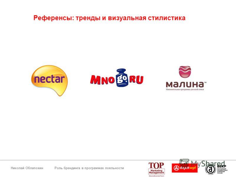 Роль брендинга в программах лояльностиНиколай Облапохин Референсы: тренды и визуальная стилистика