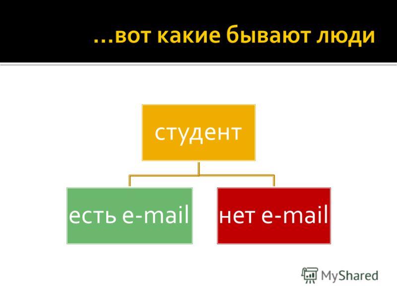 студент есть e-mailнет e-mail