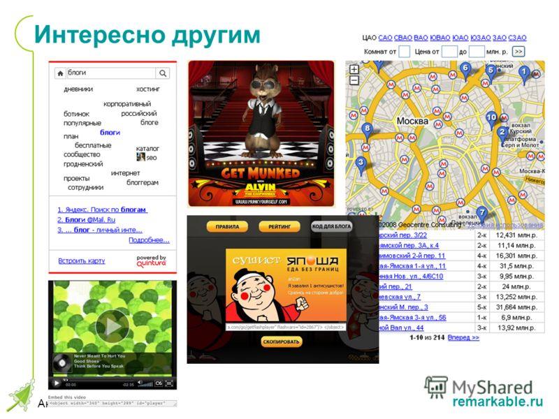 remarkable.ru Антон Попов, КИБ 2008 Интересно другим