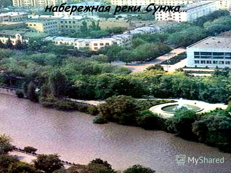 набережная реки Сунжа…
