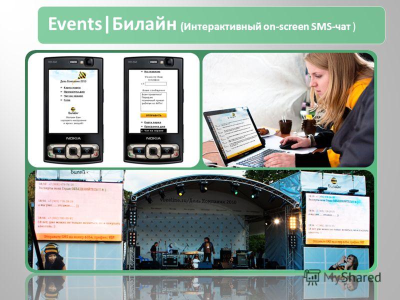 Events|Билайн (Интерактивный on-screen SMS-чат )