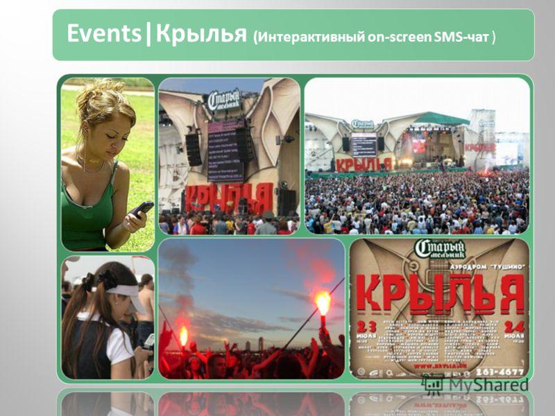Events|Крылья (Интерактивный on-screen SMS-чат )