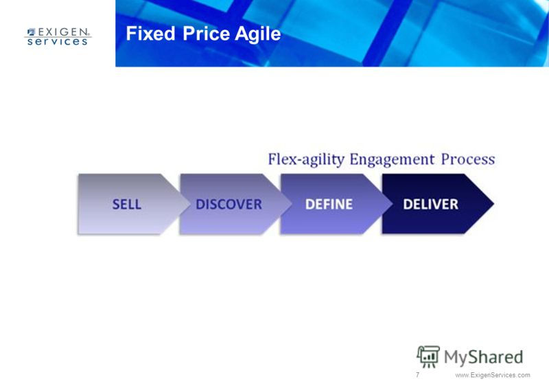 7 www.ExigenServices.com Fixed Price Agile