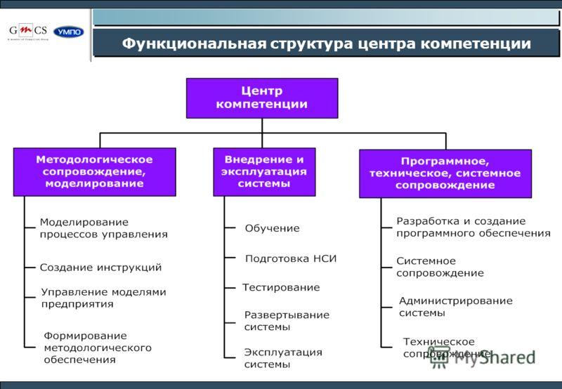 Функциональная структура центра компетенции