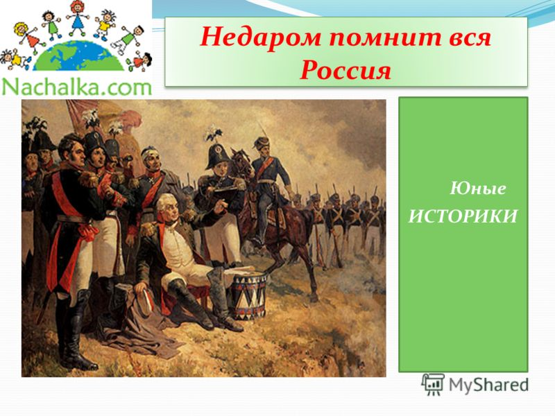 Недаром помнит вся Россия Юные ИСТОРИКИ