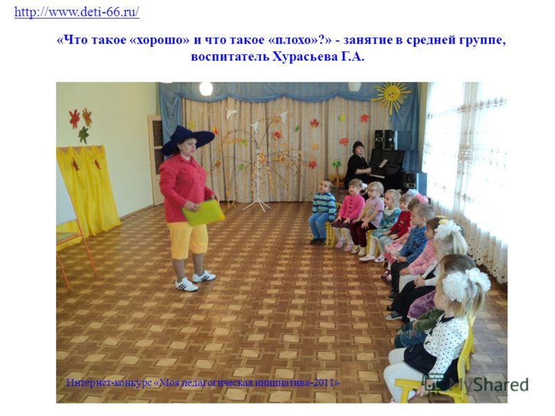 «Что такое «хорошо» и что такое «плохо»?» - занятие в средней группе, воспитатель Хурасьева Г.А. http://www.deti-66.ru/ Интернет-конкурс «Моя педагогическая инициатива-2011»