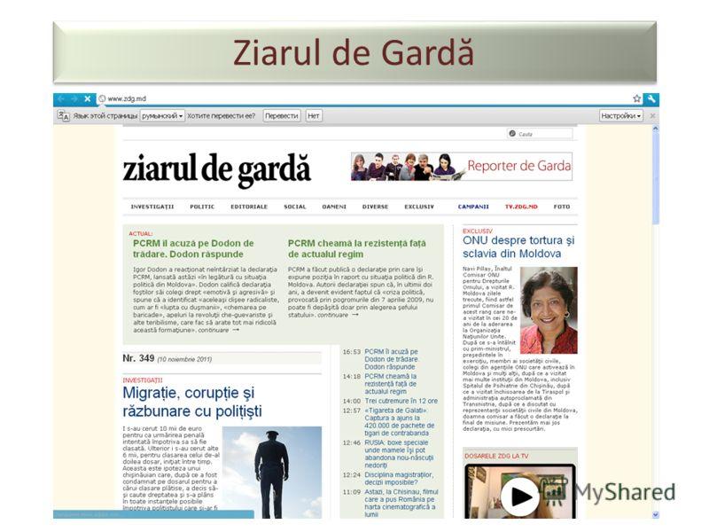 Ziarul de Gard ă