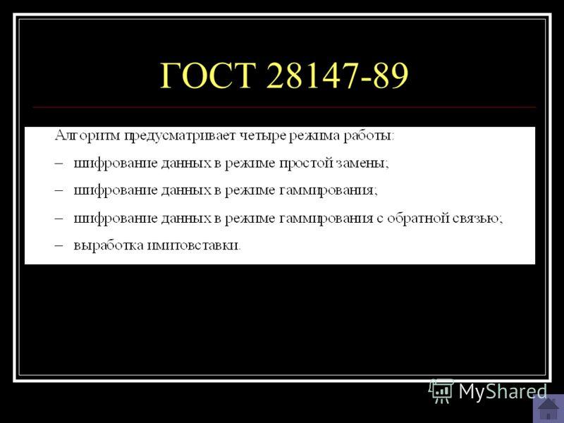 ГОСТ 28147-89