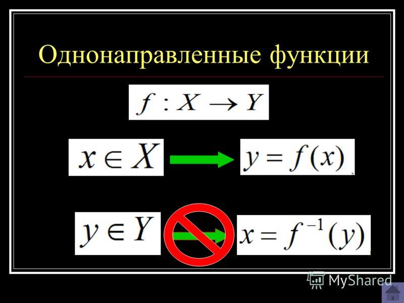 Однонаправленные функции