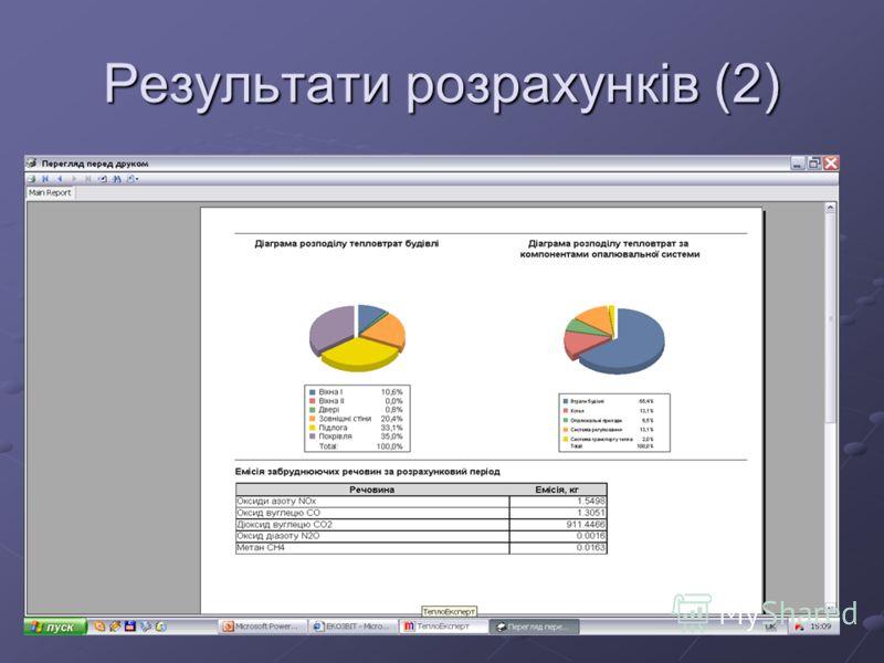 Результати розрахунків (2)