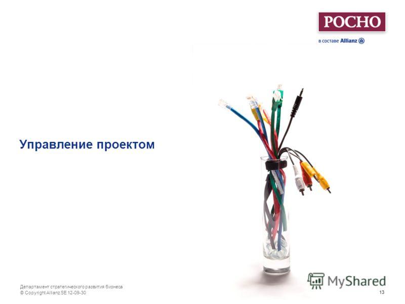 13 Департамент стратегического развития бизнеса Управление проектом © Copyright Allianz SE 12-07-01