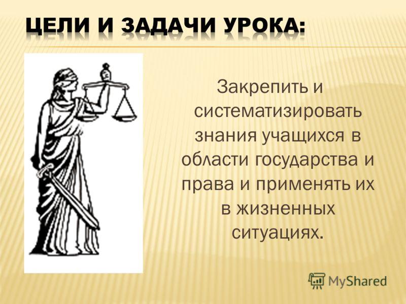 Гражданин, государство и право
