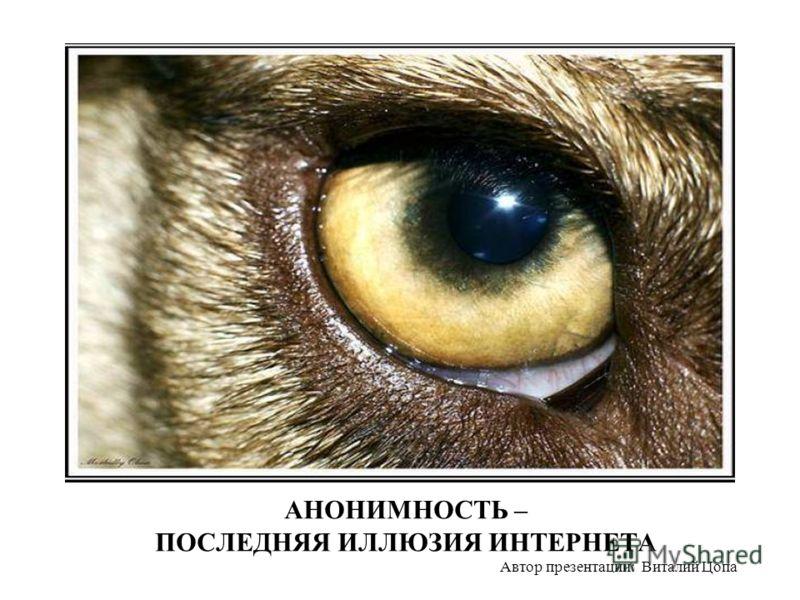 АНОНИМНОСТЬ – ПОСЛЕДНЯЯ ИЛЛЮЗИЯ ИНТЕРНЕТА Автор презентации: Виталий Цопа