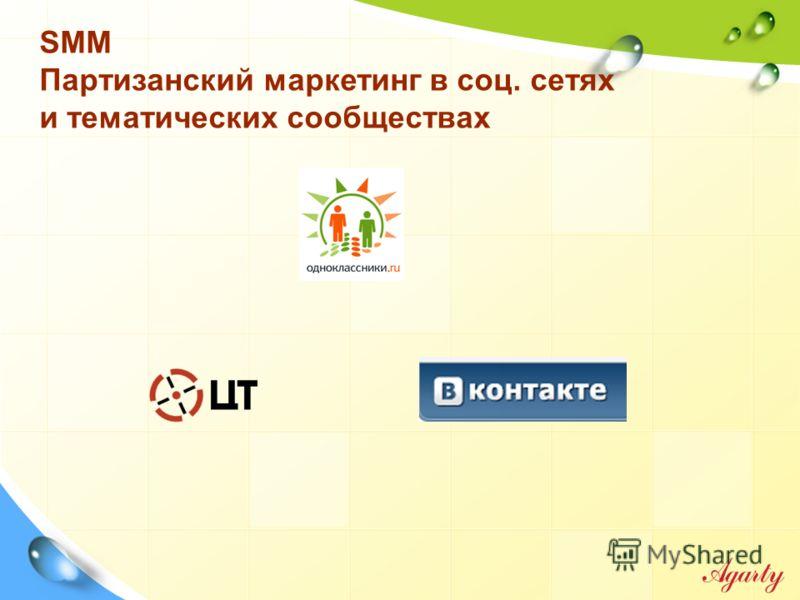 SMM Партизанский маркетинг в соц. сетях и тематических сообществах