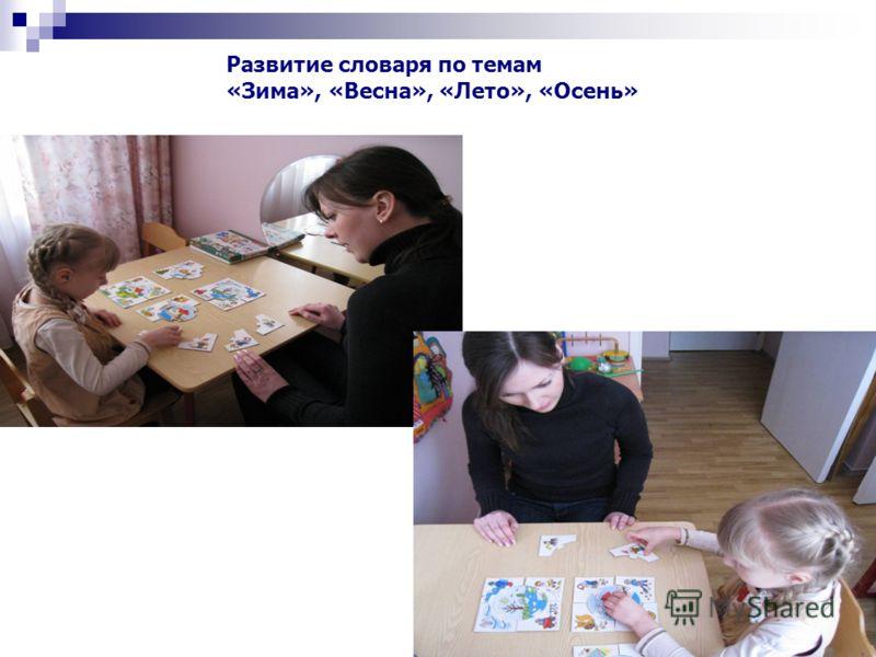 Развитие словаря по темам «Зима», «Весна», «Лето», «Осень»