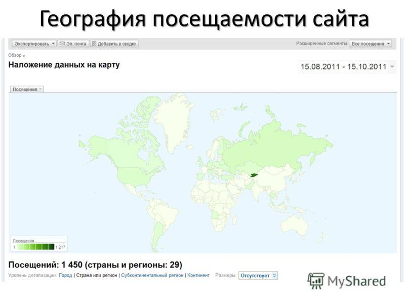 География посещаемости сайта