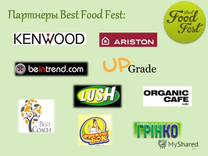 Партнеры Best Food Fest: 15