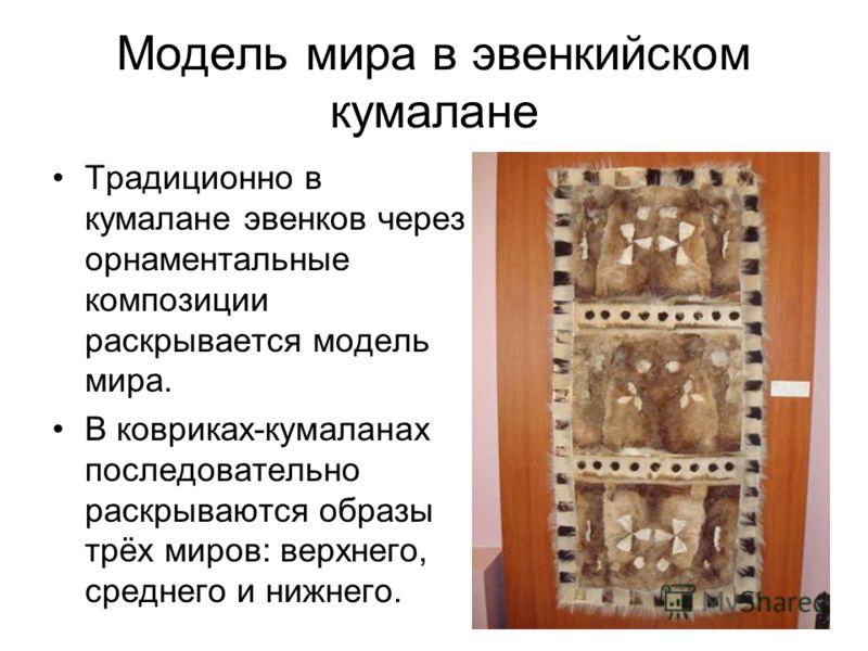 Кумаланы применялись и для укрывания вещей. Также некоторые кумаланы имели ритуальное значение. Это были шаманские коврики, необходимые в различных обрядах.