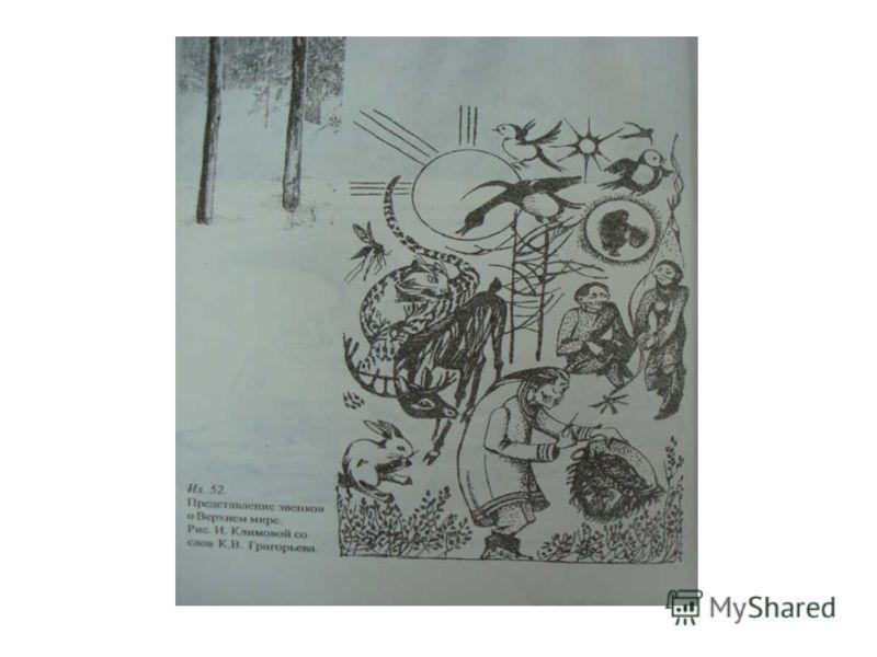 Персонажи верхнего мира В верхнем мире по представлениям эвенков живёт Агды (хозяин грома и молнии), Буга, Майи́н (дух-хозяин верхнего мира), Óми (душа человека), Пóдя (дух-хозяин огня и домашнего очага), Сэвэки́ (творец земли, животных и человека,