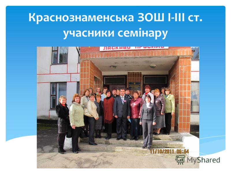 Краснознаменська ЗОШ I-III ст. учасники семінару