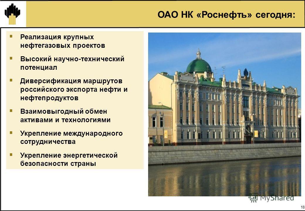 18 Реализация крупных нефтегазовых проектов Высокий научно-технический потенциал Диверсификация маршрутов российского экспорта нефти и нефтепродуктов Взаимовыгодный обмен активами и технологиями Укрепление международного сотрудничества Укрепление эне