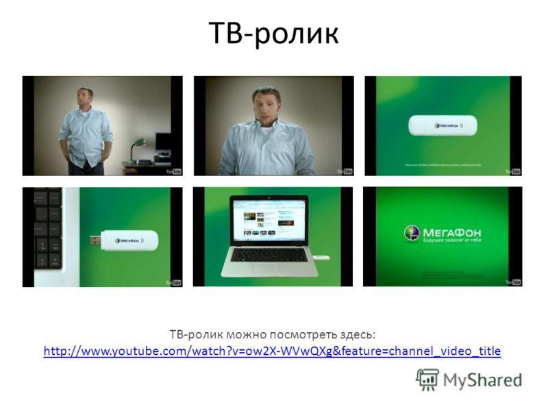 ТВ-ролик ТВ-ролик можно посмотреть здесь: http://www.youtube.com/watch?v=ow2X-WVwQXg&feature=channel_video_title