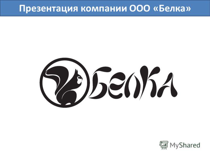 Презентация компании ООО «Белка»