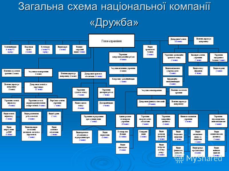 Загальна схема національної компанії «Дружба»