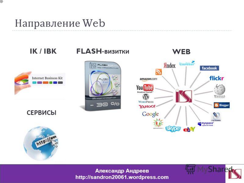 Направление Web IK / IBK FLASH- визитки WEB СЕРВИСЫ Александр Андреев http://sandron20061.wordpress.com