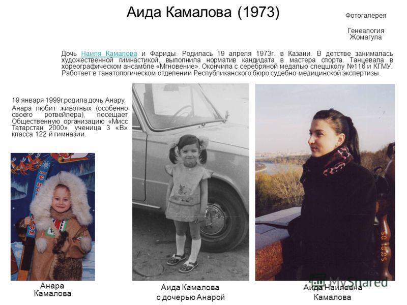 Айрат Камалов (1963) Сын Наиля Камалова и Фариды. Родился 1 июля 1963 г. в Кировочепецке. После средней школы окончил ПТУ 51 по специальности слесарь механо-сборочных работ. Срочную службу служил в Бикинском краснознаменном погранотряде. Шофер-дально