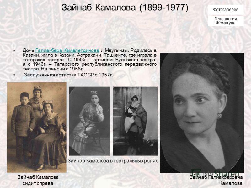 Габдрахман Камал II (1896-1948) Сын Галиакбара Камалетдинова и Маугыйзы. Родился и жил в Казани. Один из основоположников татарского профессионального театра. Начинал актерскую карьеру в 1916 г. в первой татарской театральной труппе «Сайяр», затем сл