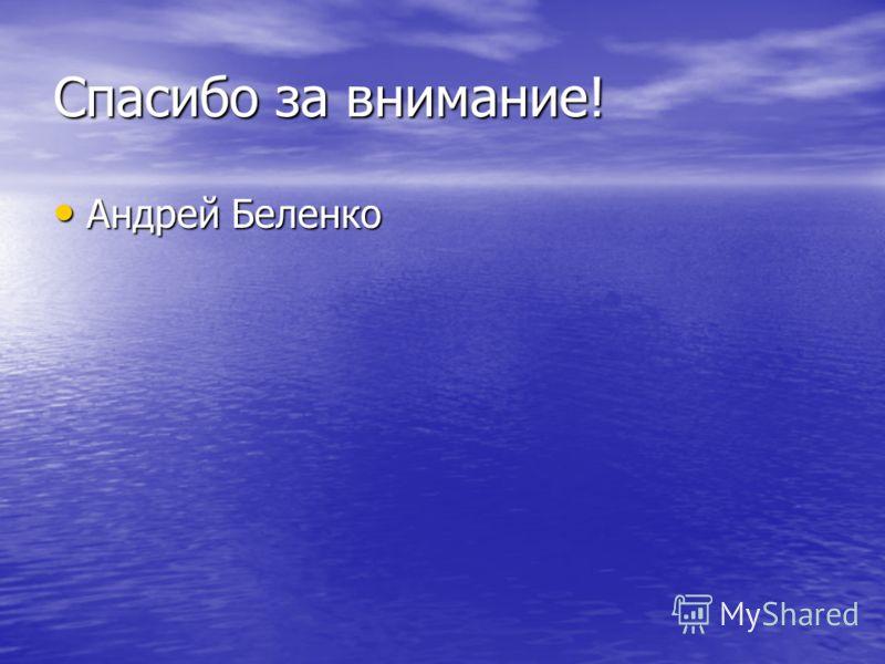 Спасибо за внимание! Андрей Беленко Андрей Беленко
