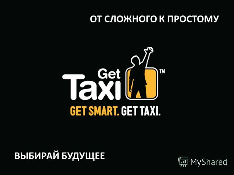 Get Taxi (Logo) The ride choice Open screen ОТ СЛОЖНОГО К ПРОСТОМУ ВЫБИРАЙ БУДУЩЕЕ