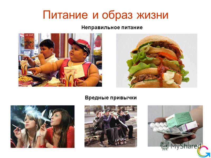 Питание и образ жизни Неправильное питание Вредные привычки