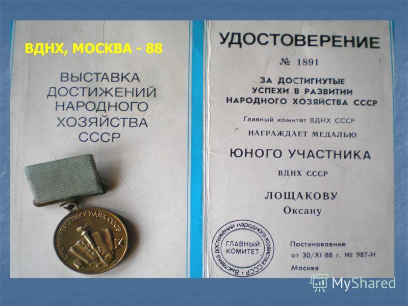 ВДНХ, МОСКВА - 88