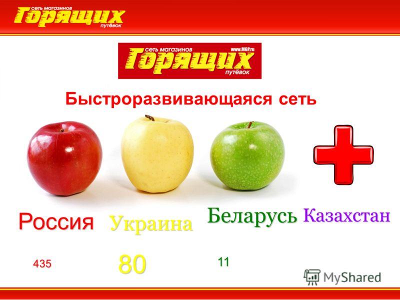 Россия Украина Беларусь 43580 11 Быстроразвивающаяся сеть Казахстан