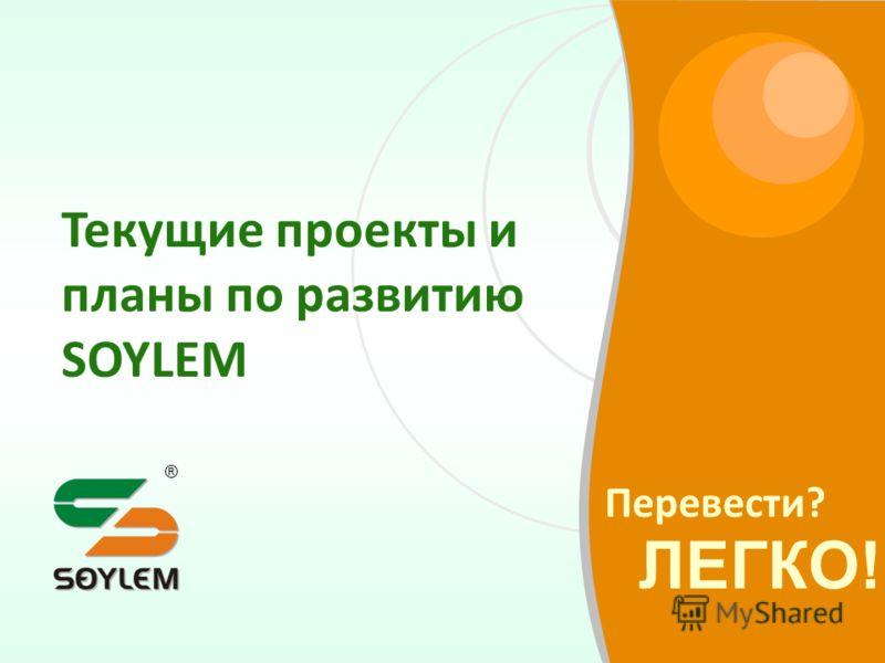 Перевести? ЛЕГКО! ® Текущие проекты и планы по развитию SOYLEM