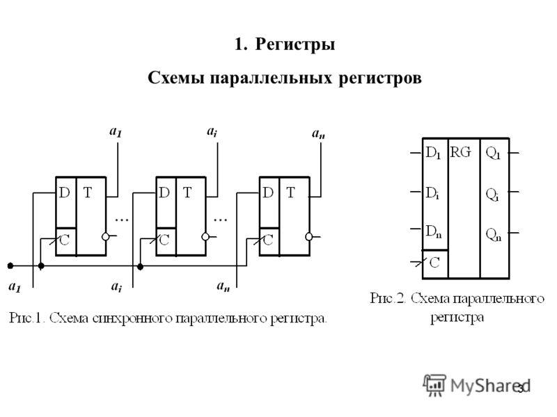 3 1. Регистры Схемы параллельных регистров