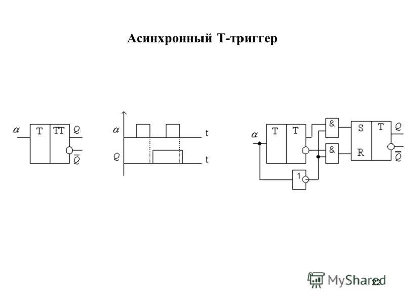 22 Асинхронный Т-триггер