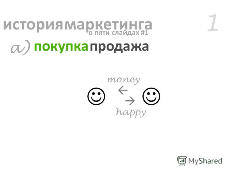 happy money 1 a) история маркетинга покупка продажа в пяти слайдах #1