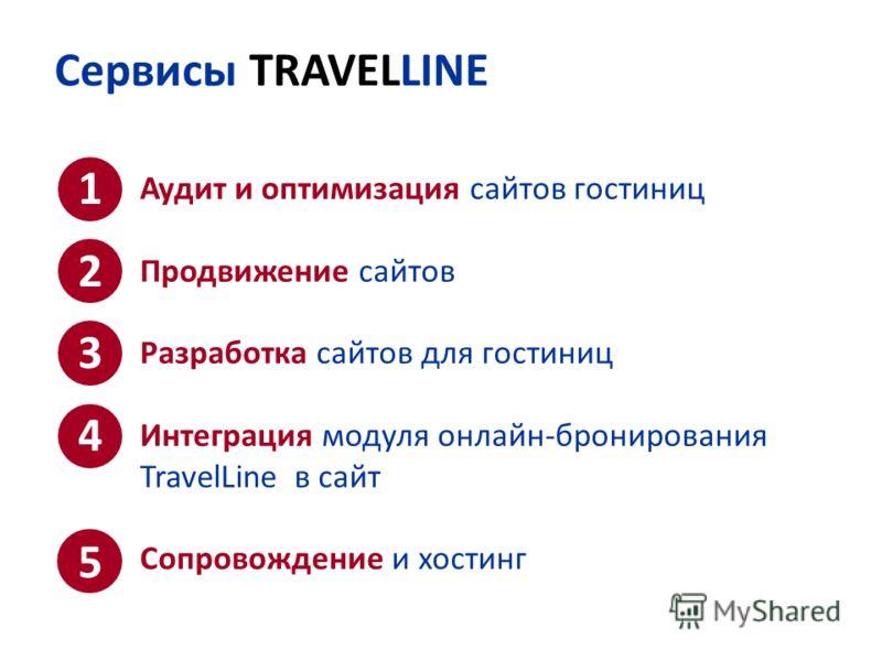 Сервисы TRAVELLINE Аудит и оптимизация сайтов гостиниц Продвижение сайтов Разработка сайтов для гостиниц Интеграция модуля онлайн-бронирования TravelLine в сайт Сопровождение и хостинг 1234512345