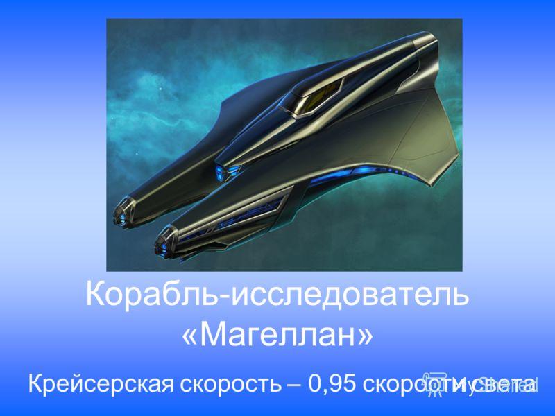 Корабль-исследователь «Магеллан» Крейсерская скорость – 0,95 скорости света