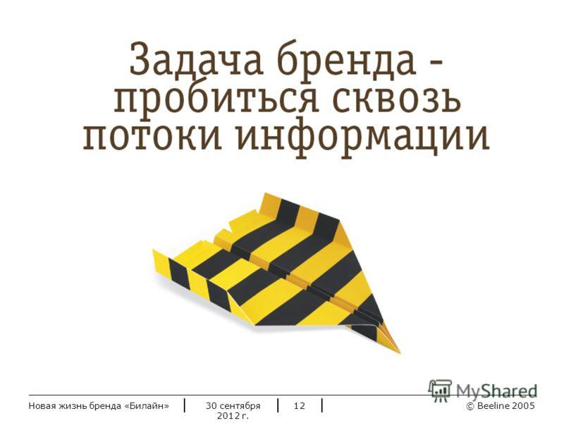© Beeline 20052 июля 2012 г.Новая жизнь бренда «Билайн»12