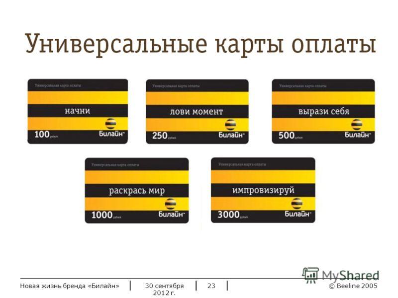 © Beeline 20052 июля 2012 г.Новая жизнь бренда «Билайн»23