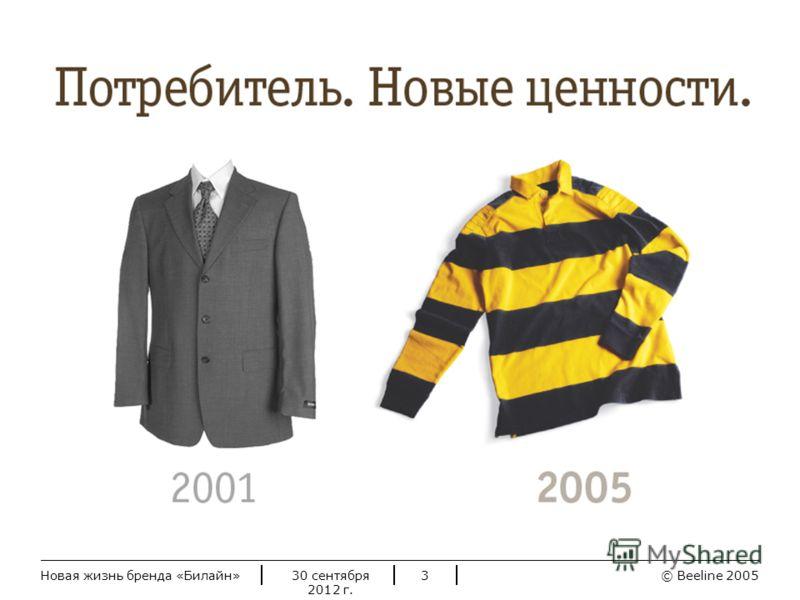 © Beeline 20052 июля 2012 г.Новая жизнь бренда «Билайн»3